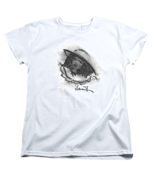 Women's T-Shirt (Standard Cut) featuring the drawing Shades Of Sunday by Laurie L