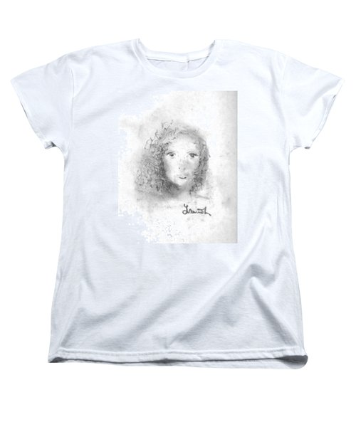 Women's T-Shirt (Standard Cut) featuring the drawing Something About Mary by Laurie L