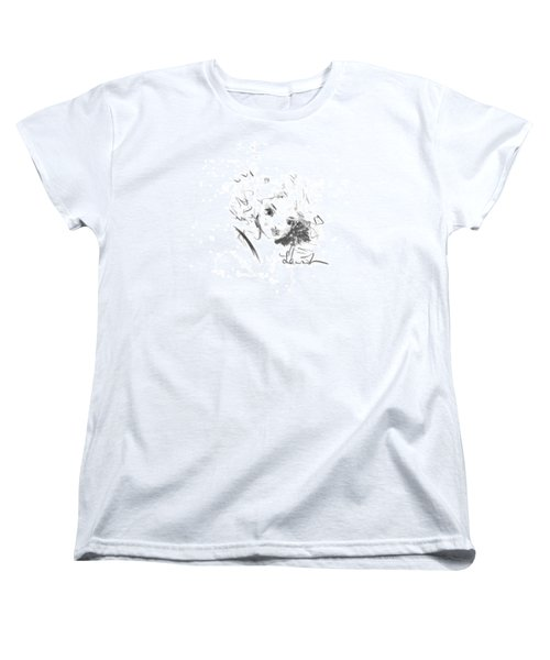 Women's T-Shirt (Standard Cut) featuring the drawing Just Country by Laurie L