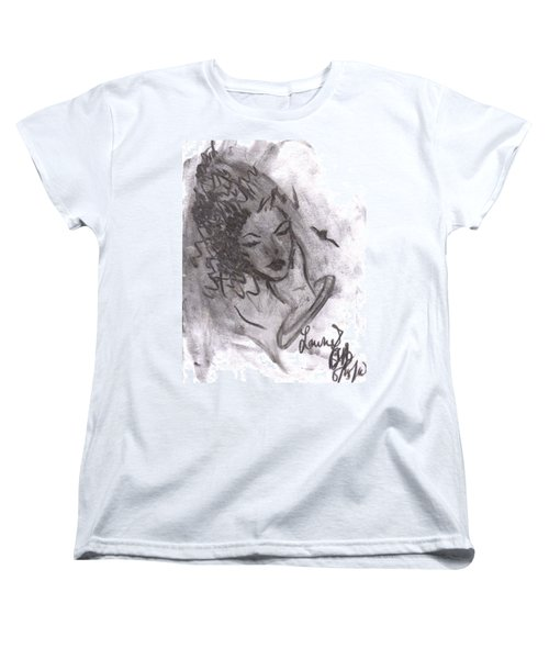 Women's T-Shirt (Standard Cut) featuring the drawing Story Of My Heart by Laurie L