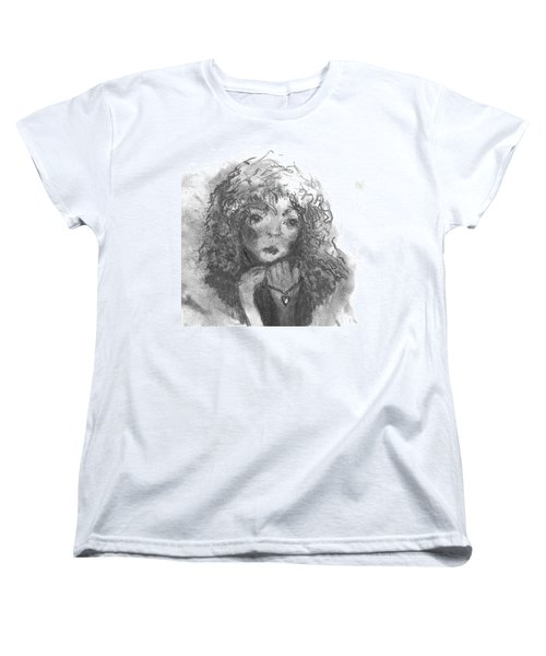 Women's T-Shirt (Standard Cut) featuring the drawing The Locket by Laurie L