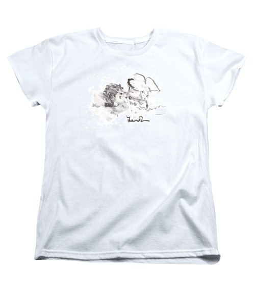 Women's T-Shirt (Standard Cut) featuring the drawing Timeless Love by Laurie L
