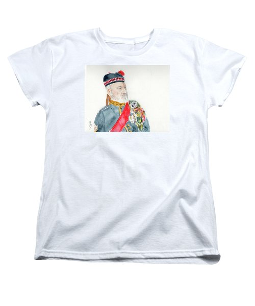 Women's T-Shirt (Standard Cut) featuring the painting A Scottish Soldier by Yoshiko Mishina