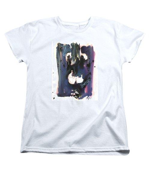 Women's T-Shirt (Standard Cut) featuring the painting Kneeling by Robert Joyner