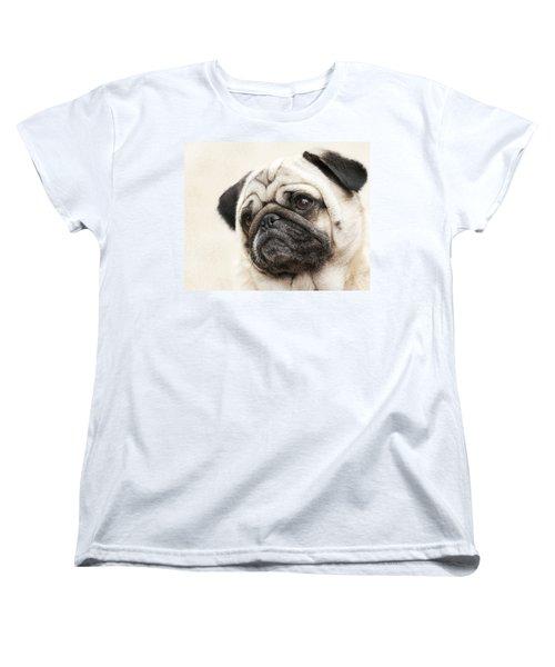 L-o-l-a Lola The Pug Women's T-Shirt (Standard Cut) by Kathy Clark