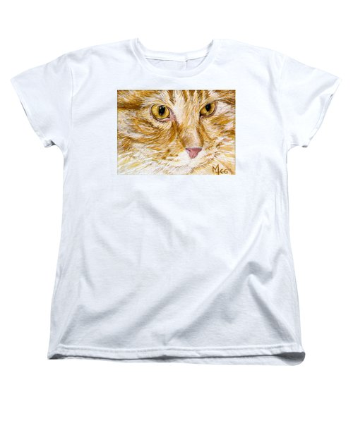 Women's T-Shirt (Standard Cut) featuring the painting Leo by Mary-Lee Sanders