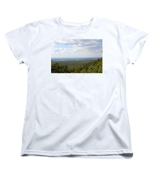 Overlooking Pinetop Women's T-Shirt (Standard Cut) by Pamela Walrath