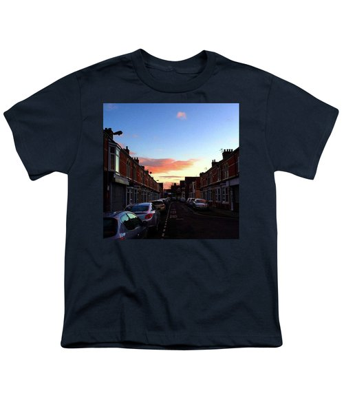 Cartoon Skies Over Middlesbrough Today Youth T-Shirt