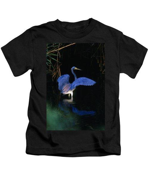 Tri-colored Heron - Fs000031 Kids T-Shirt