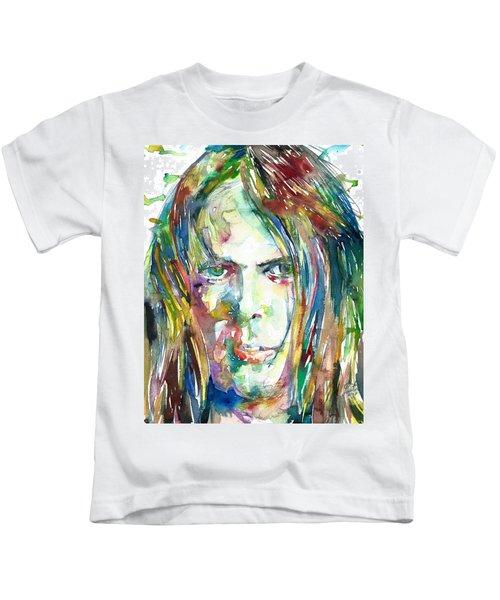 Neil Young Portrait Kids T-Shirt