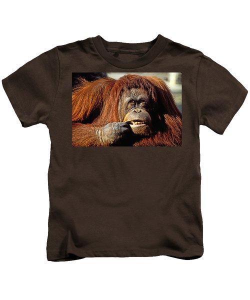 Orangutan  Kids T-Shirt by Garry Gay