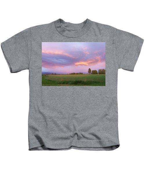 Montana Sunsets 3 Kids T-Shirt