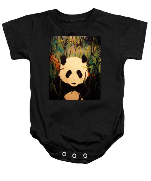 Endangered Panda Baby Onesie