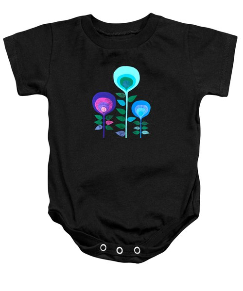 Space Flowers Baby Onesie