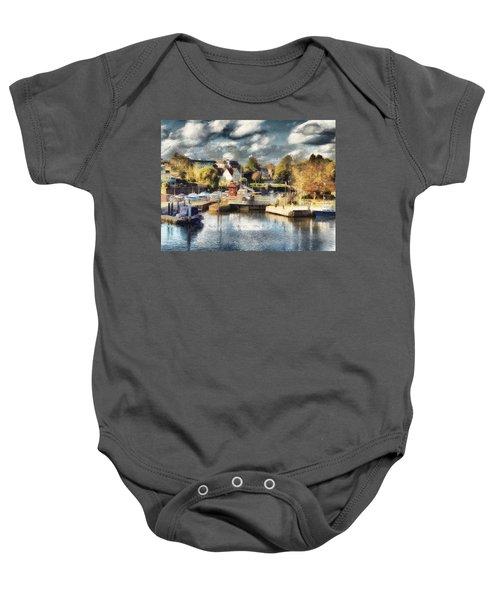 Riverview V Baby Onesie