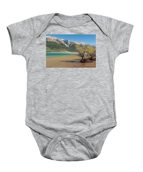 Lake Wakatipu Baby Onesie by Werner Padarin