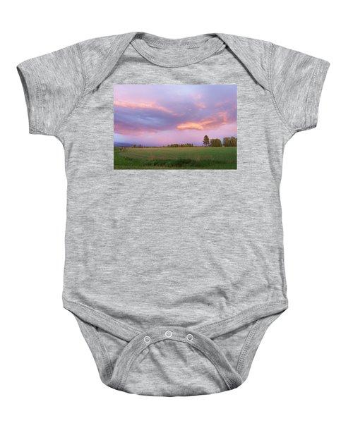 Montana Sunsets 3 Baby Onesie