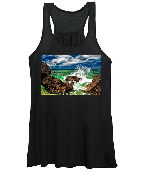 Blue Meets Green Women's Tank Top