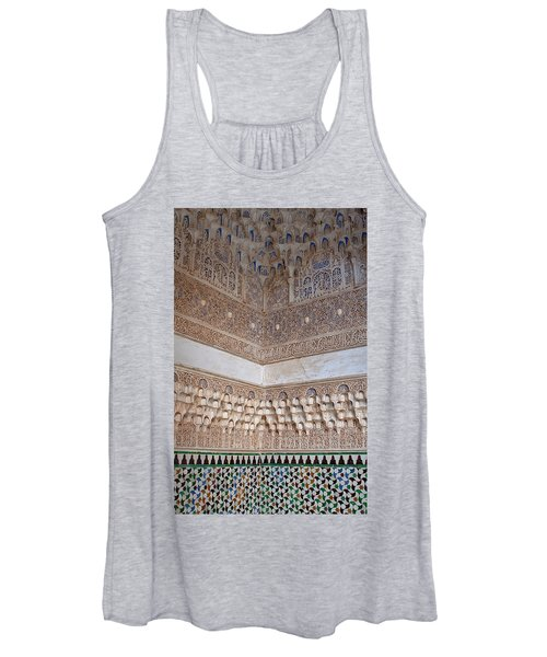 Colorful Carved Corner Women's Tank Top