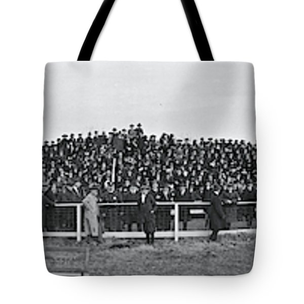 George Washington University  Fans  Vs Tote Bag by Fred Schutz Collection
