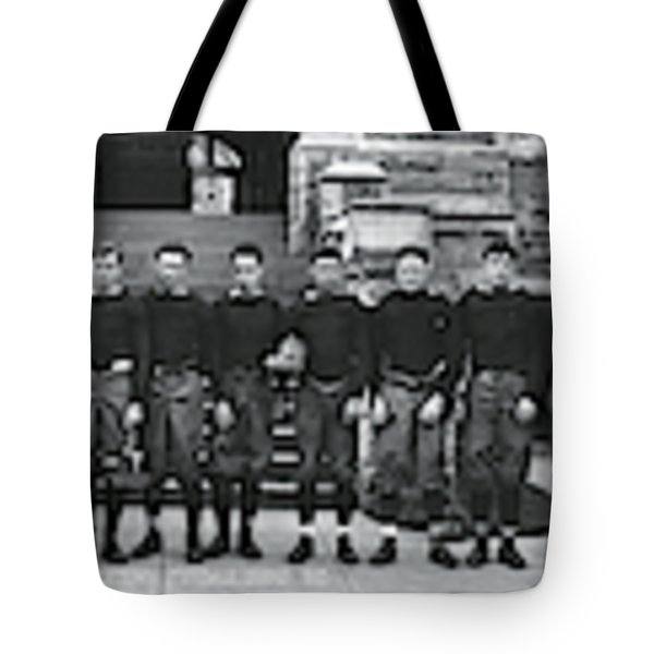 Georgetown Football Squad Washington Dc Tote Bag by Fred Schutz Collection