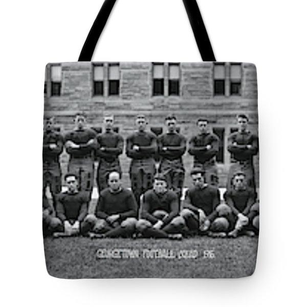 Georgetown U Football Squad Tote Bag