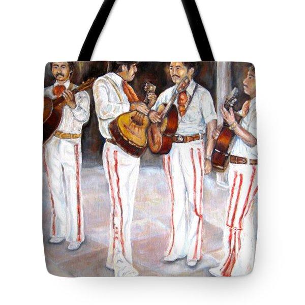 Mariachi  Musicians Tote Bag by Carole Spandau