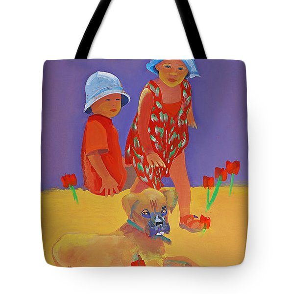 The Boxer Puppy Tote Bag
