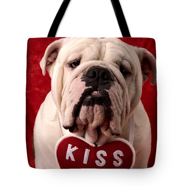 English Bulldog Tote Bag by Garry Gay