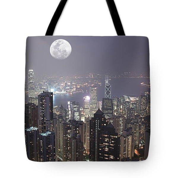 Hongkong Tote Bag by MotHaiBaPhoto Prints