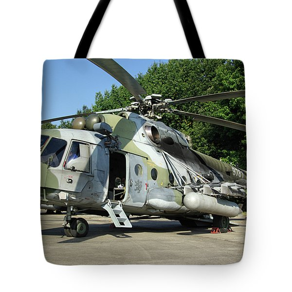 Mil Mi-17 Hip Tote Bag by Tim Beach