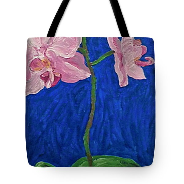 Tote Bag featuring the painting Orchids by Joshua Redman