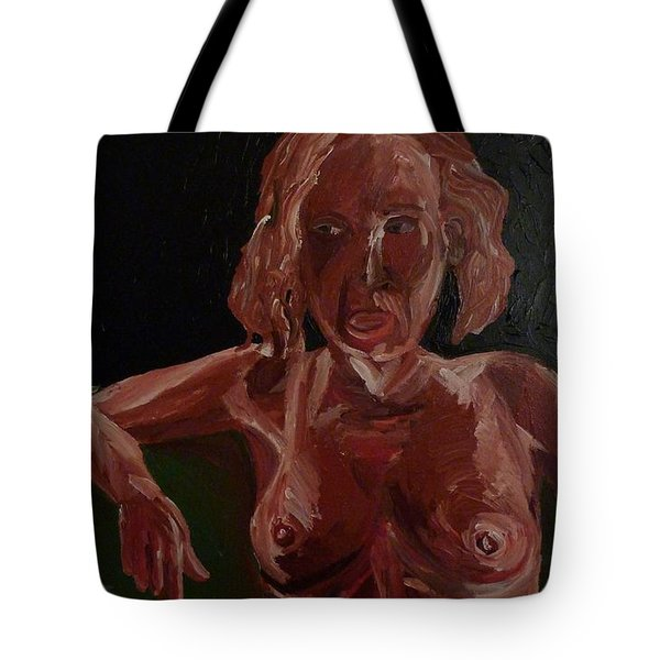 Tote Bag featuring the painting Seated Nude by Joshua Redman