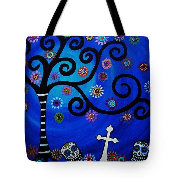 Day Of The Dead Tote Bag by Pristine Cartera Turkus