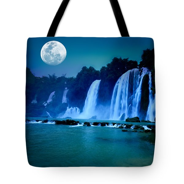 Waterfall Tote Bag by MotHaiBaPhoto Prints