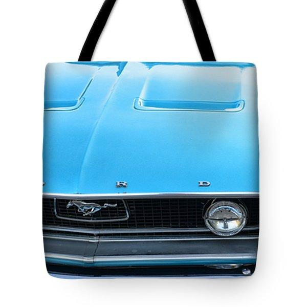 1968 Mustang Fastback Hood Tote Bag by Paul Ward
