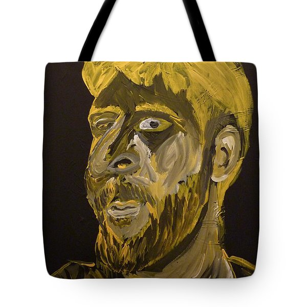 Tote Bag featuring the painting Self Portrait by Joshua Redman