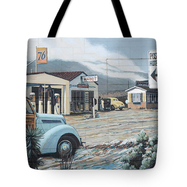 29 Palms Flood Mural Tote Bag by Bob Christopher