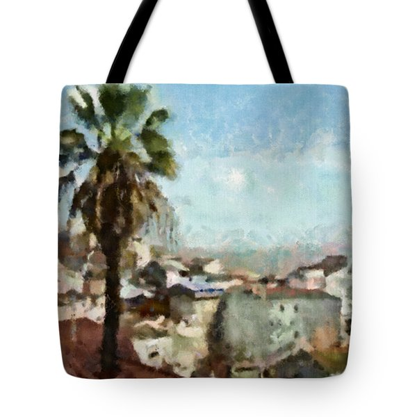 Tote Bag featuring the painting Lisbon by Dariusz Gudowicz