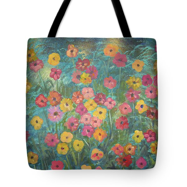A Field Of Flowers Tote Bag by John Keaton