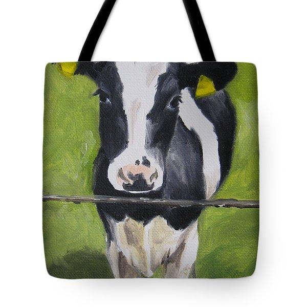 A Heifer Tote Bag by Jindra Noewi