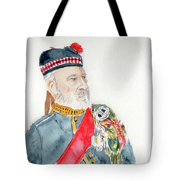 Tote Bag featuring the painting A Scottish Soldier by Yoshiko Mishina