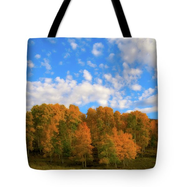 Tote Bag featuring the photograph Aspens by Steve Stuller