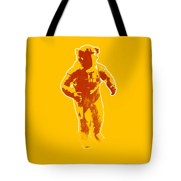 Astronaut Graphic Tote Bag by Pixel Chimp