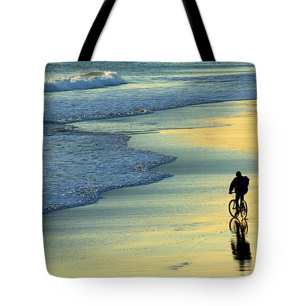 Beach Biker Tote Bag by Carlos Caetano