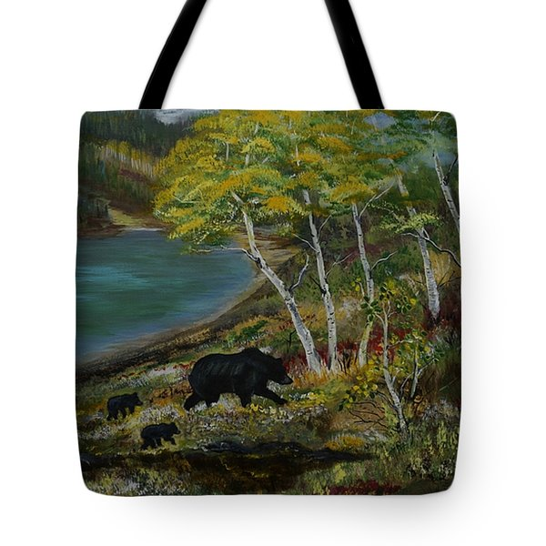 Bear Country Tote Bag by Leslie Allen