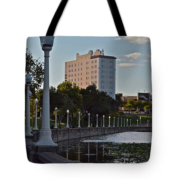 Beautiful Downtown Lakeland Tote Bag by Carol  Bradley