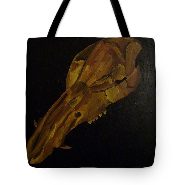 Tote Bag featuring the painting Boar's Skull No. 3 by Joshua Redman