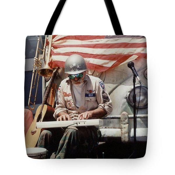 Tote Bag featuring the photograph Born In The Usa by Mary-Lee Sanders
