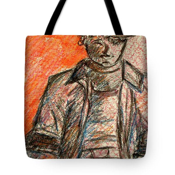 Tote Bag featuring the painting Boy In Red by Cathie Richardson